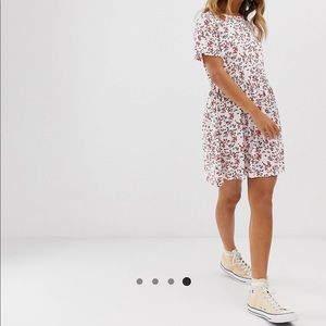 Wednesday's Girl Small Floral mini smock Dress